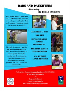 Dads and Daughters January 4 2015 Dr. Brian Roberts Final