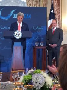 Secretary of State John Kerry and Prince Albert II of Monaco at Mondays State Luncheon.