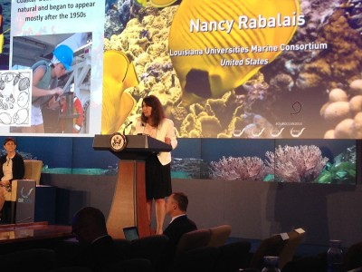 Dr. Nancy Rabalais, lead speaker for the Nutrient Pollution panel for Our Oceans Symposium,June 16, 2014